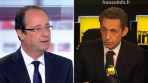 Nicolas Sarkozy sur France Info et François Hollande sur le plateau des 4 vérités sur France 2