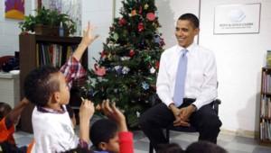 obama_enfants noel