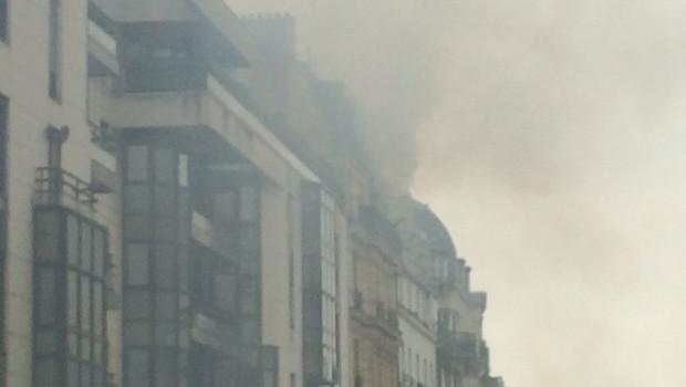 Incendie dans le XXe arrondissement de Paris, rue de Ménilmontant, le 22 février 2016.