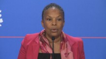 Christiane Taubira lors du point presse du mercredi 12 mars 2014