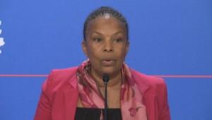 Christiane Taubira lors du point presse du mercredi 12 mars 2014