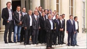 François Hollande reçoit les syndicats d'Arcelor Mittal lundi 4 juin 2012.