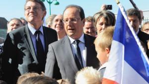François Hollande, à Denain, le 3 septembre 2013.