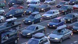 Bouchons autoroute trafic voitures