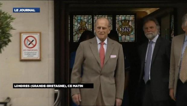 Le prince Philip à sa sortie de l'hôpital, le 9 juin 2012.