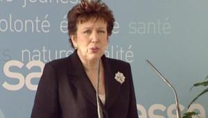 Roselyne Bachelot lançant une campagne de communication sur les métiers de l'hôpital (19 février 2008)