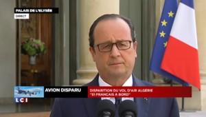"""Disparition du AH5017 : Hollande annule son voyage, """"je resterai à Paris tout le temps nécessaire"""""""