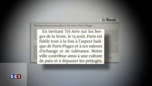 """""""Tel-Aviv sur Seine"""" : Paris fidèle à ses """"valeurs d'échange et de tolérance"""" selon Hidalgo"""