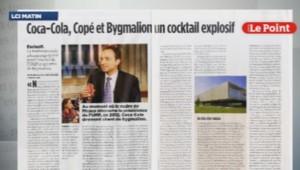 Article du Point sur les liens supposés entre Jean-François Copé, Bygmalion et Coca-Cola, 9/10/14