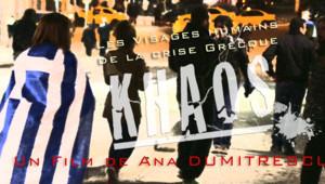 """L'affiche du documentaire """"Khaos, les visages humains de la crise grecque"""""""