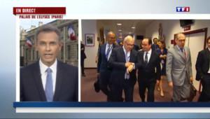 """Le 20 heures du 13 juillet 2015 : Crise de la Grèce : à l'Elysée, """"on est convaincu que sans Hollande il n'y aurait pas eu d'accord"""" - 790"""