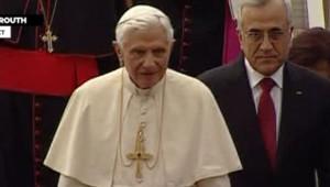L'arrivée du pape Benoît XVI au Liban