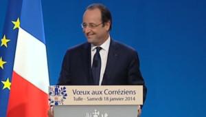 François Hollande à Tulle, en Corrèze, le 18 janvier 2014