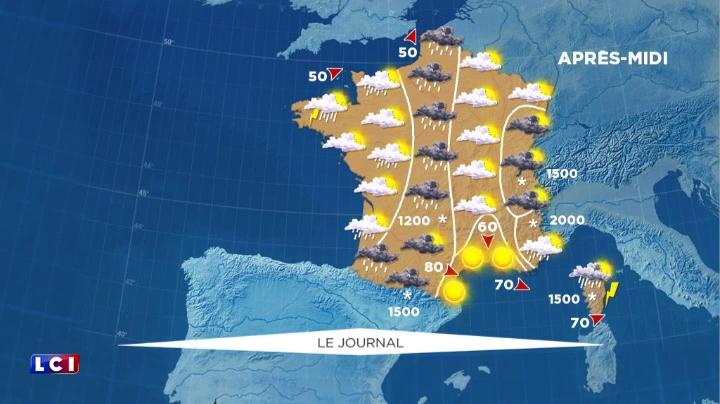 L 39 est de la france sous la pluie la m t o du samedi 9 avril soci t mytf1news - L est de la france ...