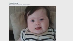 La photo d'un bébé trisomique postée par une maman.