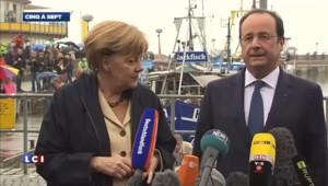 Arrivée chaleureuse pour Hollande en Allemagne