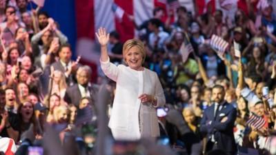 Hillary Clinton à Philadelphie lors de son investiture