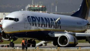 L'avion Ryanair à l'aéroport Ciampino de Rome