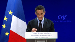Nicolas Sarkozy lors du dîner du Crif (09/02/2011)