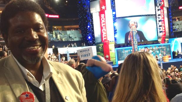 Zachary Miller, délégué à la convention démocrate 2012, à Charlotte, le 5/9/2012