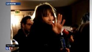 """Carla Bruni Sarkozy venu soutenir """"personnellement"""" NKM pour les municipales, le 27 janvier 2014."""