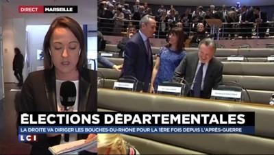 Départementales : la droite va diriger les Bouches-du-Rhône pour la 1ère fois depuis1945