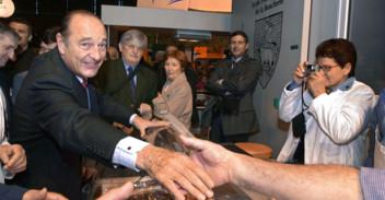Jacques Chirac au salon de l'Agriculture en 2002.
