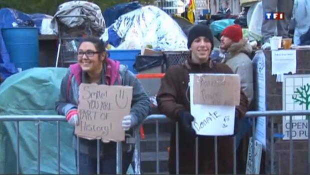 """Le mouvement """"Occupy Wall Street"""" prend de l'ampleur"""