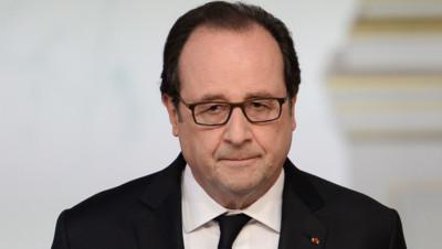 Le président Hollande lors de son allocution le 22 juillet 2016 à l'Elysée