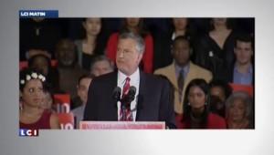 Le démocrate Bill de Blasio remporte la mairie de New York