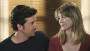 Patrick Dempsey et Ellen Pompeo dans Grey's Anatomy en 2011