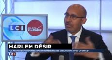 """Harlem Désir : """"La France est disponible pour reprendre des discussions avec la Grèce"""""""