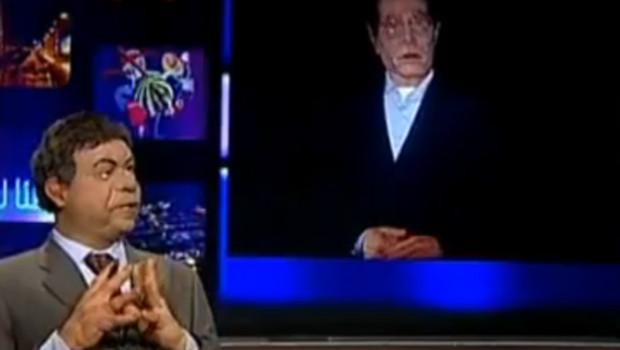 """Une scène de l'émission des """"guignols"""" de la chaîne tunisienne Ettounsiya TV"""
