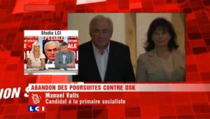 """Affaire DSK : Manuel Valls """"soulagé"""""""