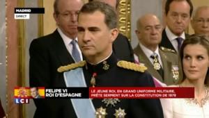 """Felipe VI : """"Je jure d'accomplir fidèlement mes fonctions"""""""