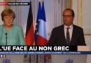 """Référendum grec : """"Nous respectons le vote des Grecs"""", affirme Hollande"""