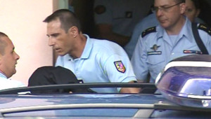 Transfert au palais de justice de Stéphane Moitoiret, suspect numéro un dans le meurtre du petit Valentin à Lagnieu
