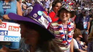 USA 2016 : des chapeaux extravagants pour la nomination d'Hillary Clinton comme candidate démocrate