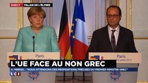 """Grèce : Pour Angela Merkel, """"la porte reste ouverte aux propositions"""""""
