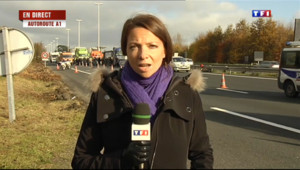 Le 13 heures du 30 novembre 2013 : Mobilisation anti�taxe des routiers : les points de blocage - 347.84