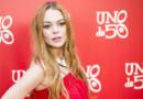 Lindsay Lohan au 20ème anniversaire de la marque de bijoux UNOde50, au palace Saldaña à Madrid, le 9 juin 2016.