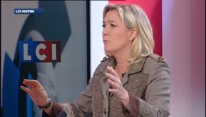 Marine Le Pen, le 4 avril sur LCI.