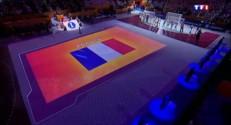 Mondial de handball : l'entrée des Experts sur le stade de Doha