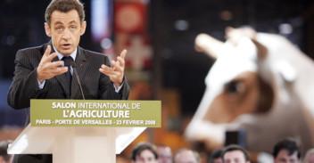 Nicolas Sarkozy au salon de l'Agriculture en 2008.