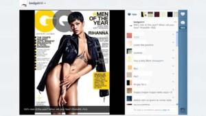 Rihanna a publié sur son compte Instagram la couverture du GQ de décembre 2012.