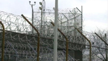 Vue d'un bâtiment du centre pénitentiaire de Rikers Island, à New York