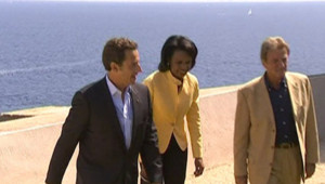 Condoleezza Rice et Nicolas Sarkozy
