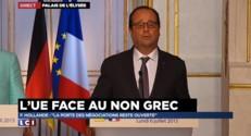 """Dette de la Grèce : """"La porte est ouverte aux discussions"""", affirme Hollande"""