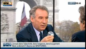 """Bayrou : """"la ligne politique"""" de Fillon est """"responsable"""""""