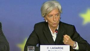 Christine Lagarde s'exprimant sur la crise financière depuis le Luxembourg (7 octobre 2008)